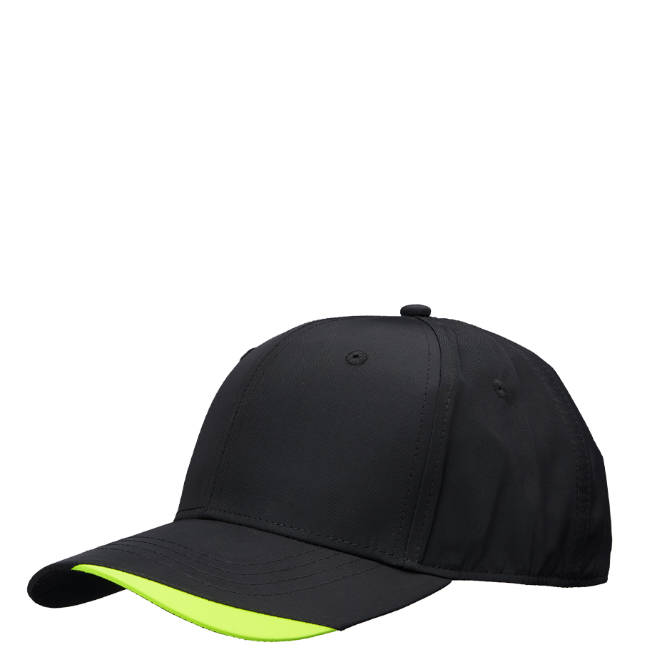 PRO WORK lippalakki musta / neonkeltainen
